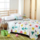 Quilt 100%Cotton feito malha da matéria têxtil para a árvore do verão