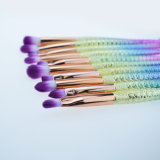 10 pcs Professional Mermaid Pinceaux de maquillage ensemble coloré les brosses de maquillage Fard à paupières de fondation de brosses Pinceaux de maquillage beauté Outils de dessin