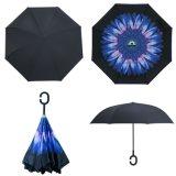 똑바로 겹켜 C 손잡이 리버스에 의하여 거꾸로 하는 일요일 우산