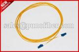 2.0mmのデュプレックスジッパーのコードD4のコネクターSMの黄色い光ファイバパッチケーブル