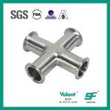 L'acciaio inossidabile ha premuto 4 accessori per tubi trasversali uguali di modo