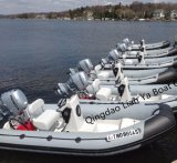 Liya 3-8personsのガラス繊維のディンギーの承認される膨脹可能な救助艇のセリウム