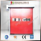 Pliage automatique d'usine vers le haut de la porte à grande vitesse de panneau (Hz-H592)