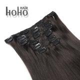 Qualidade superior Remy de cabelo humano 18 Polegadas abraçadeira preta natural Ins barbeiro