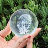 K9 Bola de cristal con base de cristal grabado láser 3D