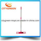 Прокладки Microfiber уборщика ручки верхнего качества Mop длинней плоский