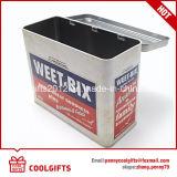 음식 급료 과자 식사 금속 포장 직사각형 주석 상자