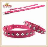 질 피라미드 다이아몬드 애완견 가죽 고리 또는 개 고양이 가죽끈, 고리 (KC0050)