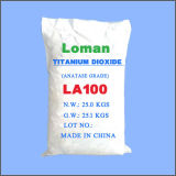 Tipo branco de Loman da manufatura da fonte do pó do dióxido Titanium, La100