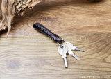 Мода пользовательские PU цепочки ключей из натуральной кожи металлического кольца для ключей из стали аксессуары