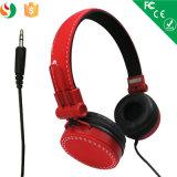 Meilleur de qualité de vente en gros de constructeur de Shenzhen de câble au-dessus de l'écouteur de stéréo d'oreille