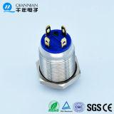 12mm hoher HauptNiederspannungs-Metalldrucktastenschalter des ring-LED 220V