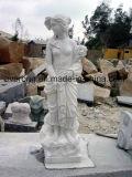 Het Beeldhouwwerk van Handcarved, de Natuurlijke Gravure van de Steen, Menselijk Beeldhouwwerk & Standbeeld voor Tuin