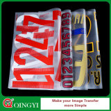 Etiqueta engomada al por mayor del traspaso térmico de la buena calidad de Qingyi para Texitle