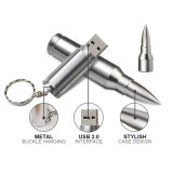 Silver/Gold Metal Bullet Unidade Flash USB Pendrive 8 GB Memory Stick Pen Drive