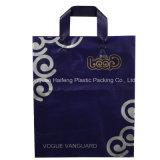 Polybag plástico da venda por atacado do saco de compra do projeto do punho do laço