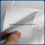 Heißes Verkaufs-Silber-weißes reflektierendes Vinylreflektierende Bienenwabe-Aufkleber-Materialien