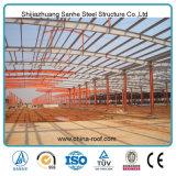Gruppo di lavoro prefabbricato chiaro della fabbrica della tettoia della struttura d'acciaio delle illustrazioni perfette