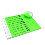 カスタムロゴイベントのための医学NFC RFIDのペーパーブレスレットのリスト・ストラップ