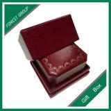 Rectángulo de papel impreso insignia de lujo del collar del anillo de la joyería