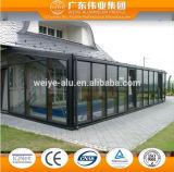 Stanza di vetro di alluminio di luce solare della stanza
