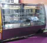 세륨, Saso를 가진 황금 미러 스테인리스 전시 케이크 냉장고 진열장