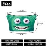 緑モンスターの化粧品袋3Dの印刷旅行構成袋の方法小さい袋のGift Trousse De Maquillage Make袋の筆箱