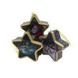 Fünf Stern-Metallzinn-verpackengeschenk-Kästen