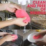 Дружественность к окружающей среде Promotioal портативный прочный силикон промывочной щеткой для кухни