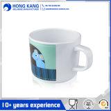 Tasse de café en plastique de course de mélamine avec le traitement