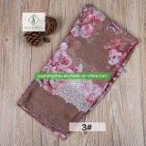 Viskose-Spitze-Rose gedruckter Schal des Form-Frauen-moslemischer Schal-100%