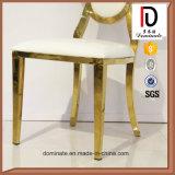 食堂のための熱い販売のローズの金の花デザインステンレス鋼の椅子