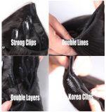 Clip di massima italiana nera naturale di Yaki nell'estensione dei capelli umani per le donne dell'afroamericano