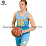 Uniformes de encargo del baloncesto de la sublimación del baloncesto de Jersey de la ropa de deportes respirable más nueva del diseño