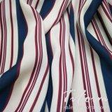 衣服のための100%年のポリエステル縞の軽くて柔らかいファブリック
