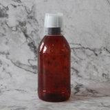 250 мл винт с круглой пластиковой бутылки ПЭТ коричневого цвета для тематических лосьоны упаковки