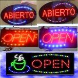 Segno aperto infiammante di spessore di qualità superiore LED del coperchio di vetro soltanto 2.5 cm dell'alimentazione elettrica