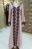 Broderie élégant noir islamique long style kaftan musulmane de l'automne enduire Abaya robe