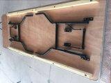 La madera contrachapada de banquetes caballete plegable Tabla/Cuadro de aluminio con Edge