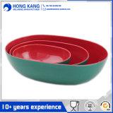 3PCS двухцветная меламина в форме судов чаше для смешивания,