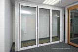 Exterior del patio trasero puertas Bifold de aluminio del patio externo Foldback de la anchura de 3.6 M
