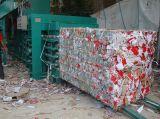 Los desechos de papel automática, plástico, paja, monomando, botellas de PET de flejes de algodón, textil, al pulsar la empacadora