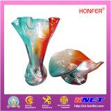 Vaso di vetro Handmade per la decorazione (HFR0255)