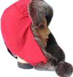 人が付いている熱い販売の暖かい帽子は作った毛皮(VT001)を