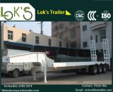 semi-remorque de 16.5m 3axles Lowbed (dimension 12350mmx3000mm de plate-forme)
