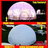 Claro transparente de PVC blanco Makers domo geodésico Fastup