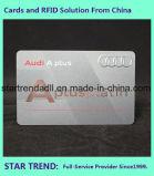 Cartão de biblioteca Cr80 do cartão do estudante 0.76mm com selo quente da tira magnética