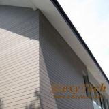Los paneles de pared exterior resistentes ULTRAVIOLETA al aire libre del material WPC de la decoración