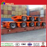 Reboque modular combinado removível com direção & levantamento hidráulicos