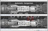 Портативная пишущая машинка HD1080p под скеннированием корабля проверяя системы